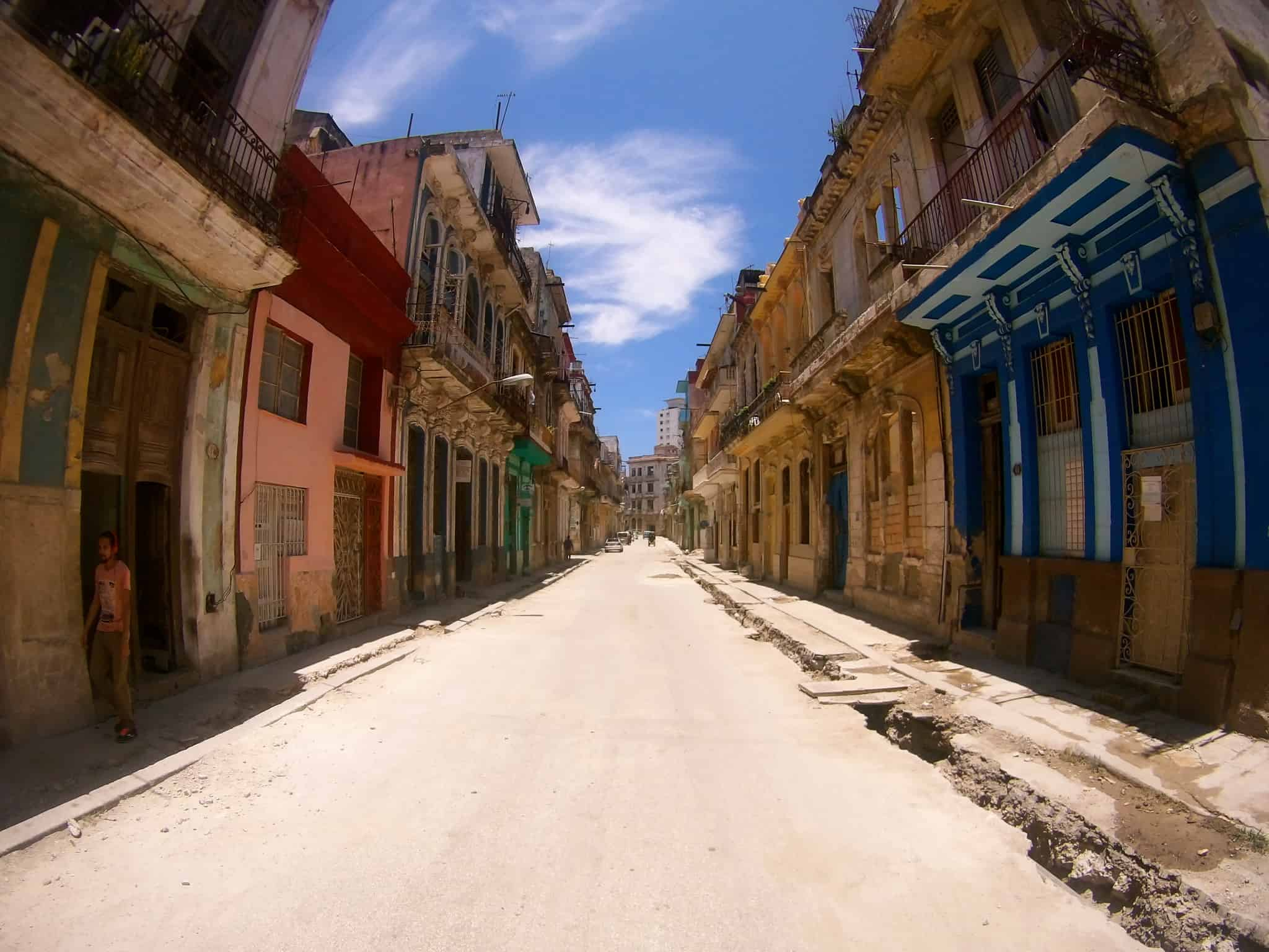 Straße in Centro Havanna.
