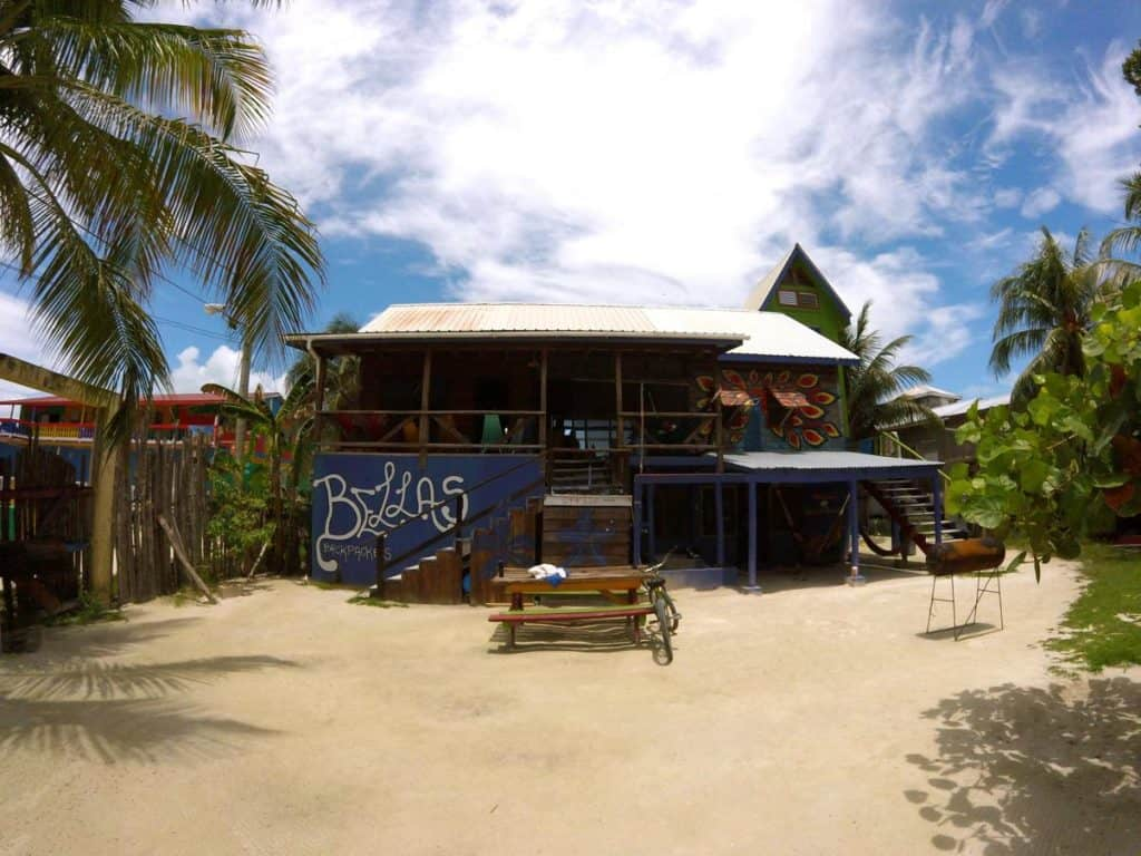 Unterkunft auf Caye Caulker in Belize Bellas Backpackers
