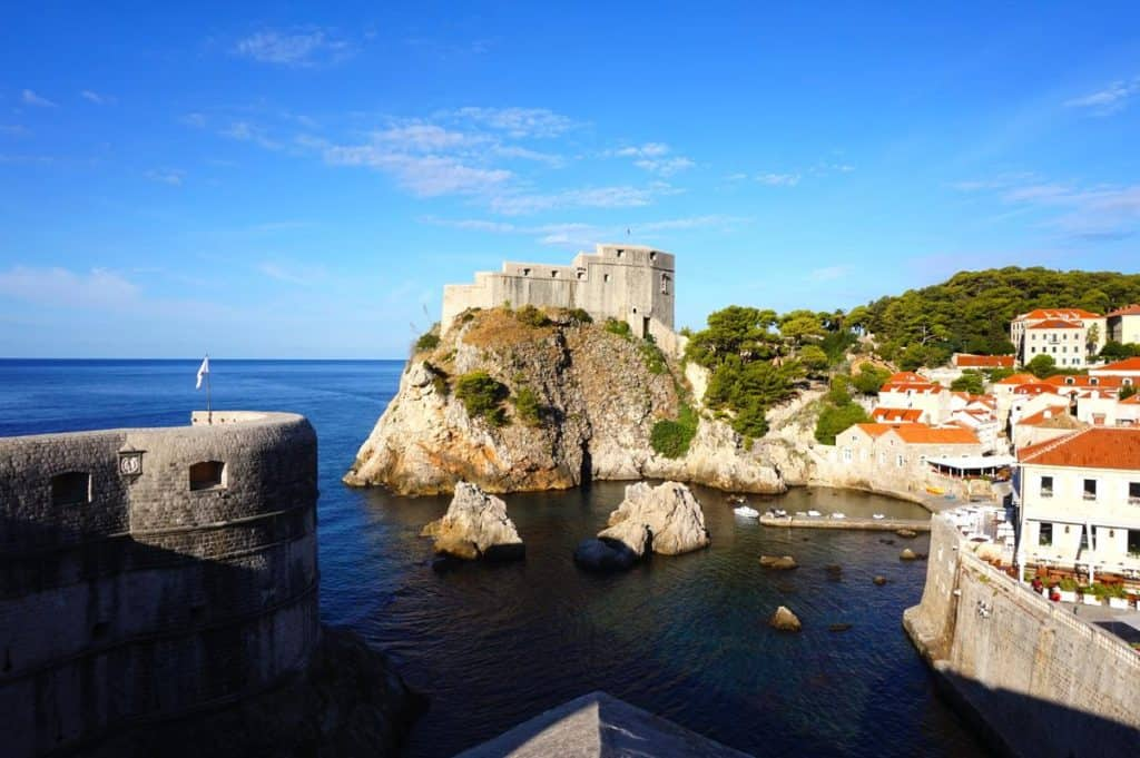 Red Keep Roter Bergfried Festung Lovrijenac Game of Thrones Drehort in Dubrovnik