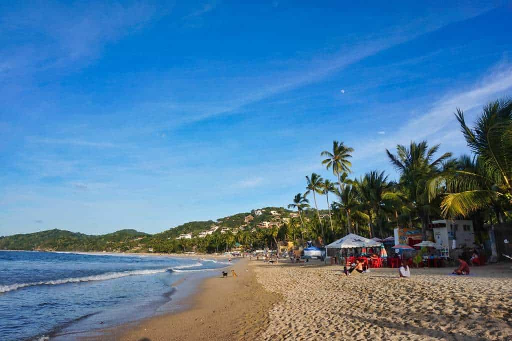 Der Playa Norte in Sayulita in Mexiko