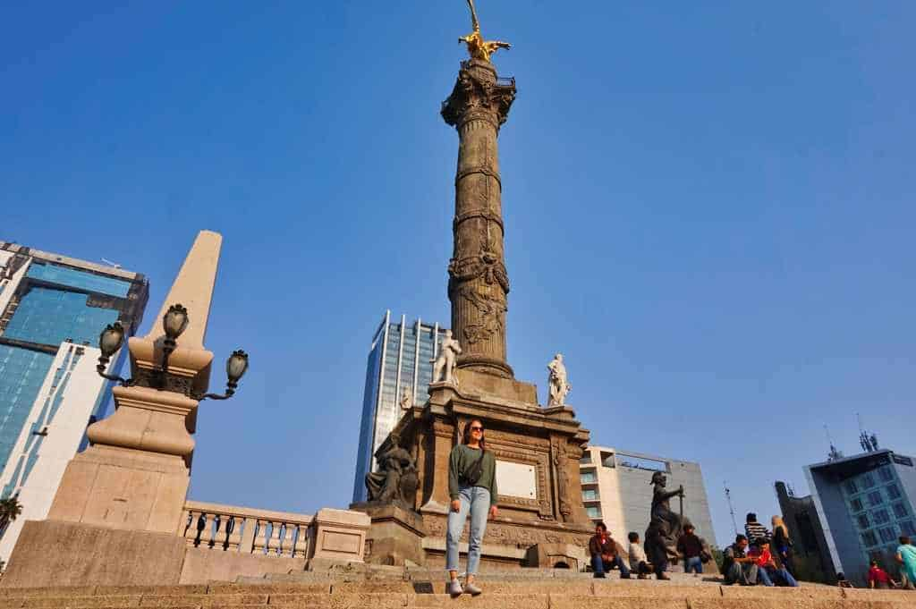 Angel de la Independencia auf dem Paseo Reforma in Mexico City.