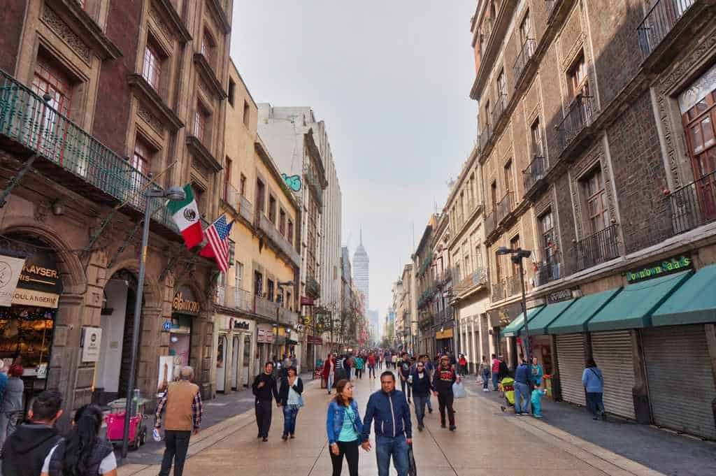 Calle Madero in Mexico City