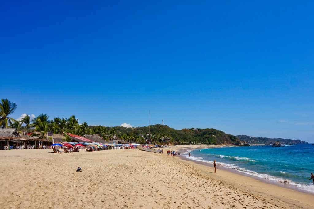 Der Playa Principal in Mazunte
