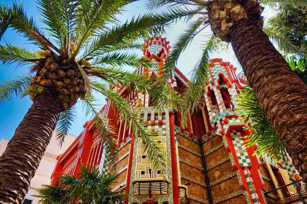 Gaudi Sehenswürdigkeiten in Barcelona wie die Casa Vicens