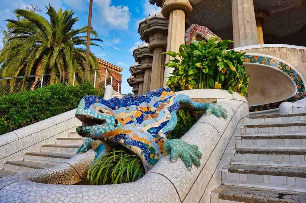 Park Güell Barcelona Gaudi Sehenswürdigkeit