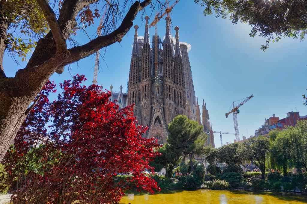 Sagrada Familia Barcelona Gaudi Sehenswürdigkeit