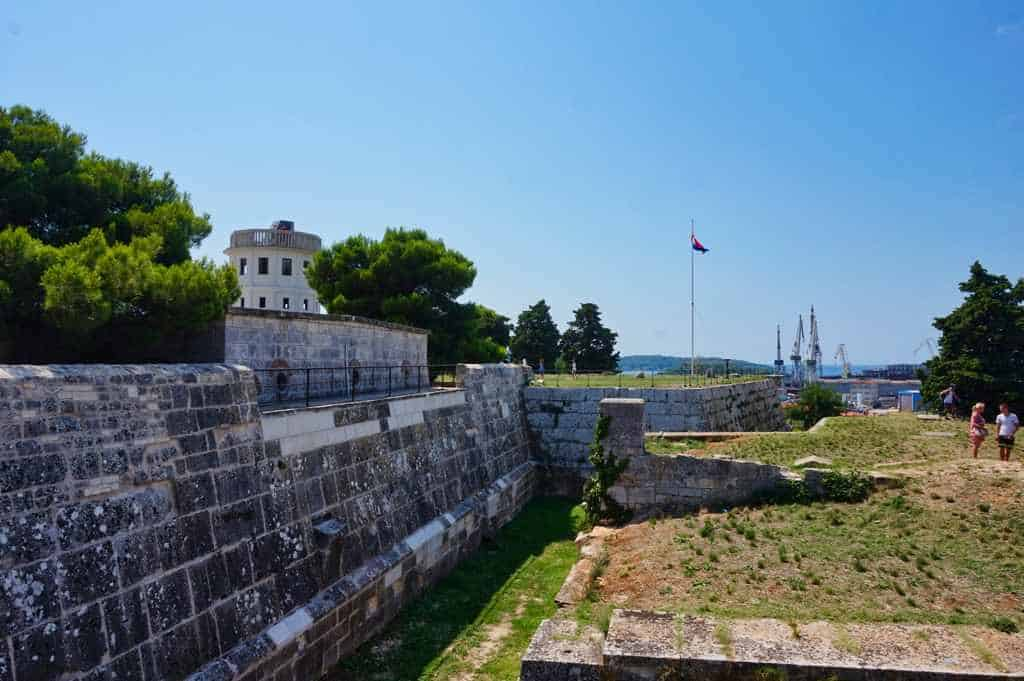 Das Fort Punta Christo in Pula