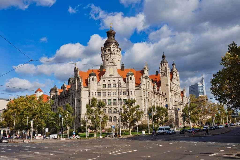 Das Neue Rathaus von Leipzig ist wunderschön anzuschauen