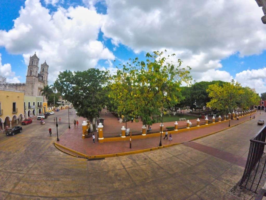 Der Parque Principal in Valladolid (Mexiko) ist eine der besten Sehenswürdigkeiten