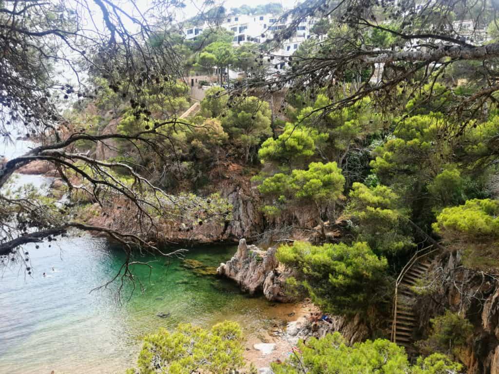 Strand Aigua Xelida ist eine einsame Bucht an der Costa Brava und ein Geheimtipp.